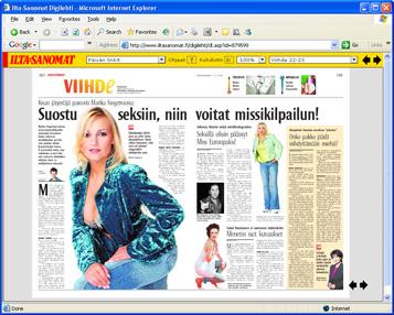 Ilta-Sanomat nyt myös Digipaperilla luettavissa