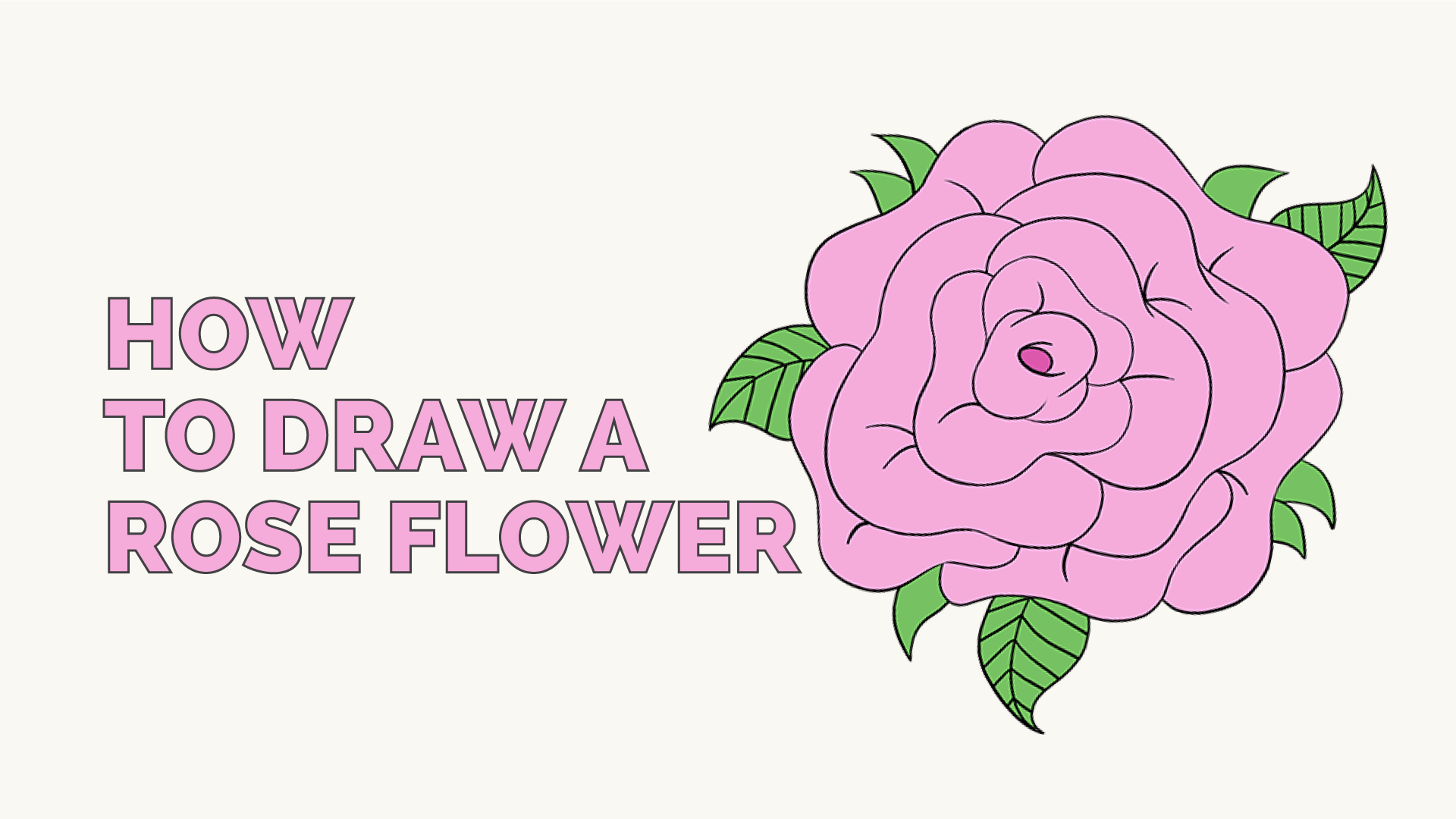 Easy To Draw Rose Petals How To Draw A Rose Easy Tutorial