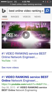 page ranking and video ranking services