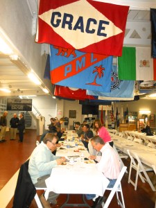 Maritime Council delegates enjoy lunch in the mess hall of the Liberty Ship. Photo by Kat Anderson 2013.