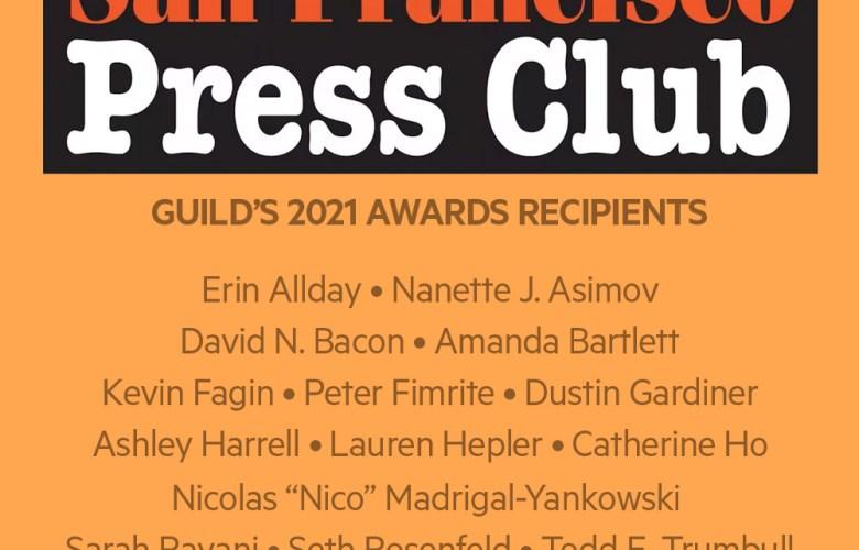 Guild members receive San Francisco Press Club awards