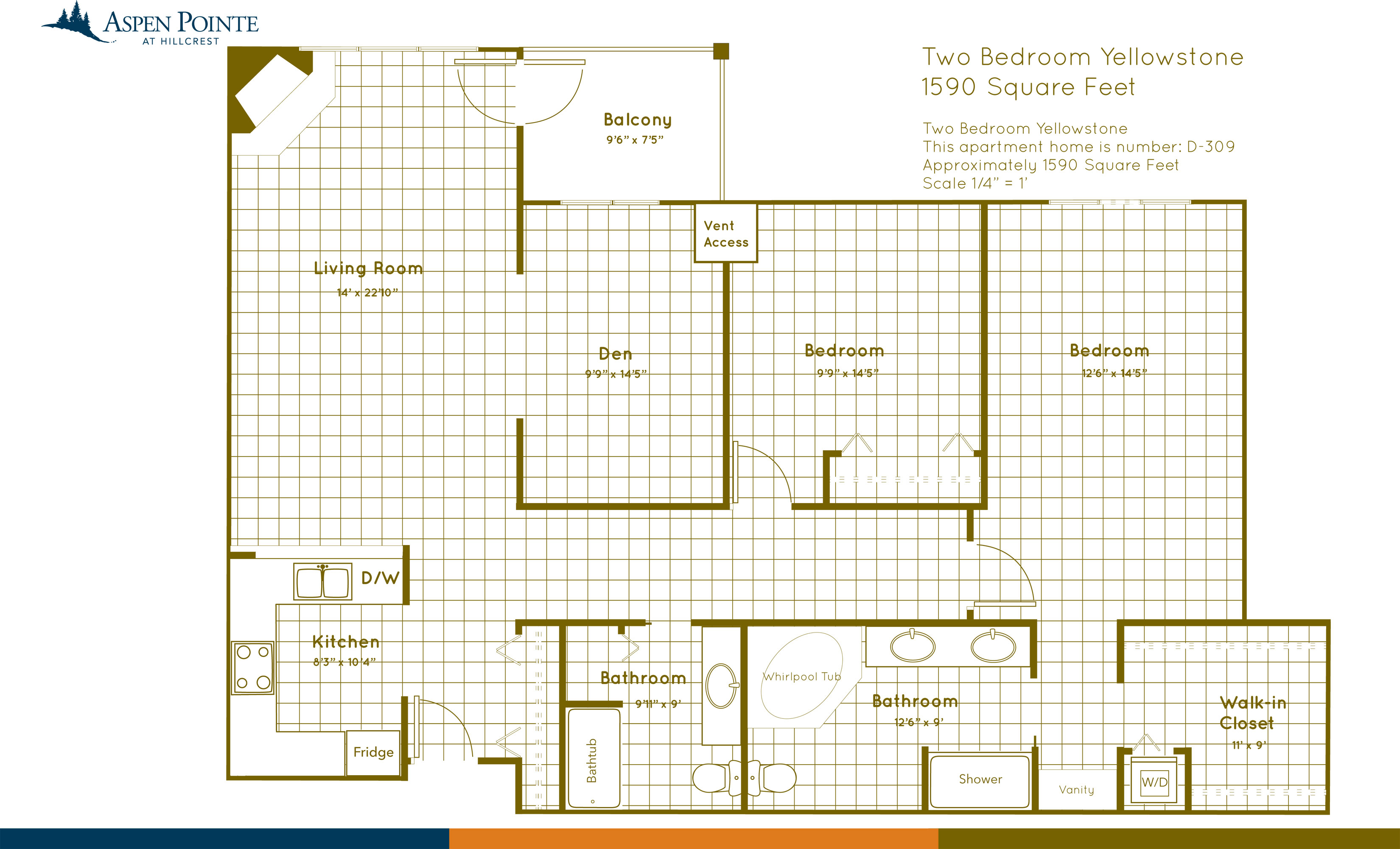Floor Plan illustration Bozeman Montana