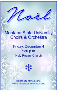Winter Choral Concert Poster MSU school of Music Graphic Design