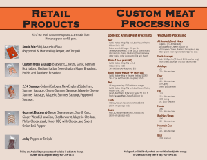 Pricing List Flyer Design for Manhatten Business page2