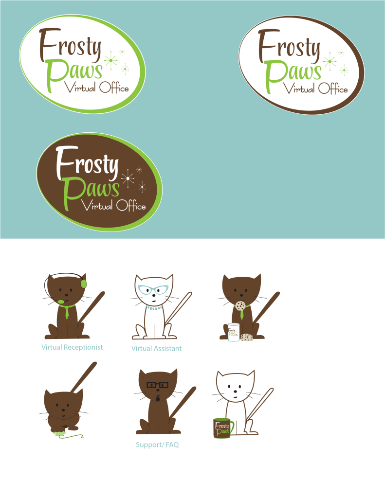 Frosty Paws Logo Design Iterations