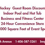 hockey rink banner graphic design