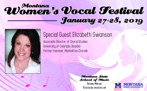 womens vocal festival half page ad graphic design
