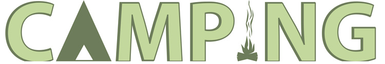 Bozeman Camping Font Design Illustration