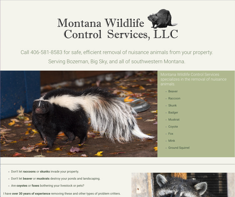 Website-Design-for-Local-Bozeman-Wildlife-Company