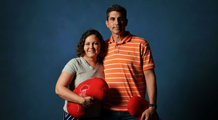 A woman & man with kidney