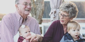 Elderly people talking, dementia