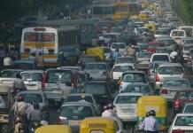 Traffic Jam Delhi, air pollution