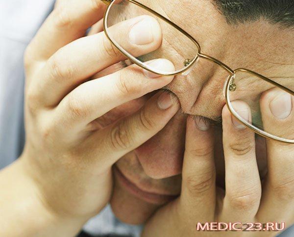 У мужчины ухудшилось зрение