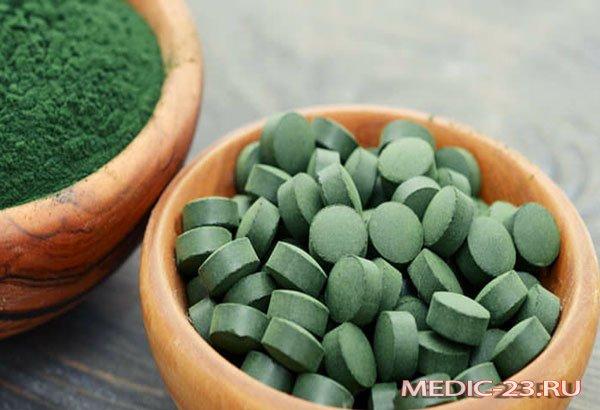 Таблетки и порошок спирулины