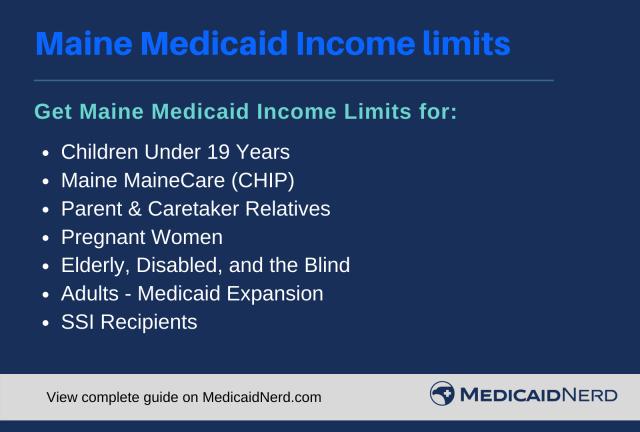 """Maine Medicaid Income Limits"""