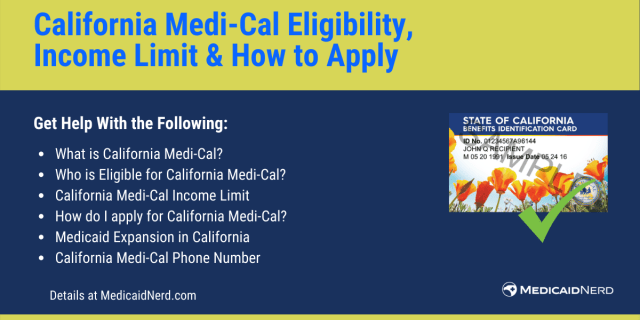 """""""California Medi-Cal Eligibility, income limit and how to apply"""""""