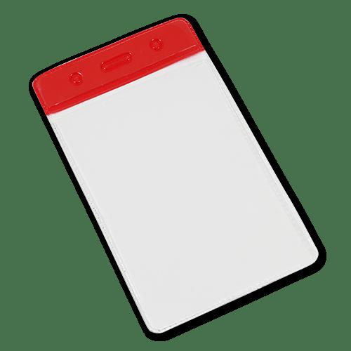 Red Portrait Vinyl Card-Holder