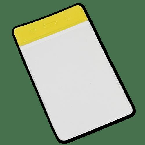Yellow Portrait Vinyl Card-Holder