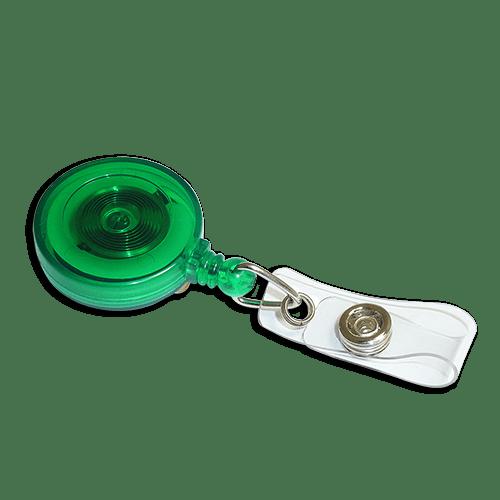 Green Ski YoYo Badge Reel