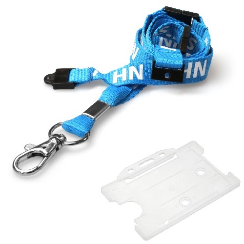 NHS Triple Breakaway Lanyard with Clear Landscape Card Holder