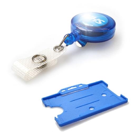 NHS YoYo Badge Reel with Light Blue Landscape Card Holder