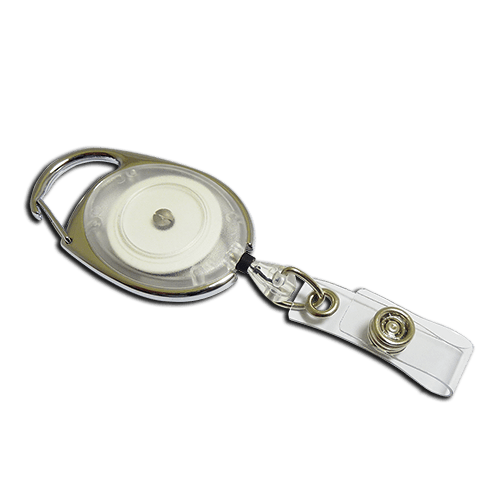 White Premier YoYo Badge Reel