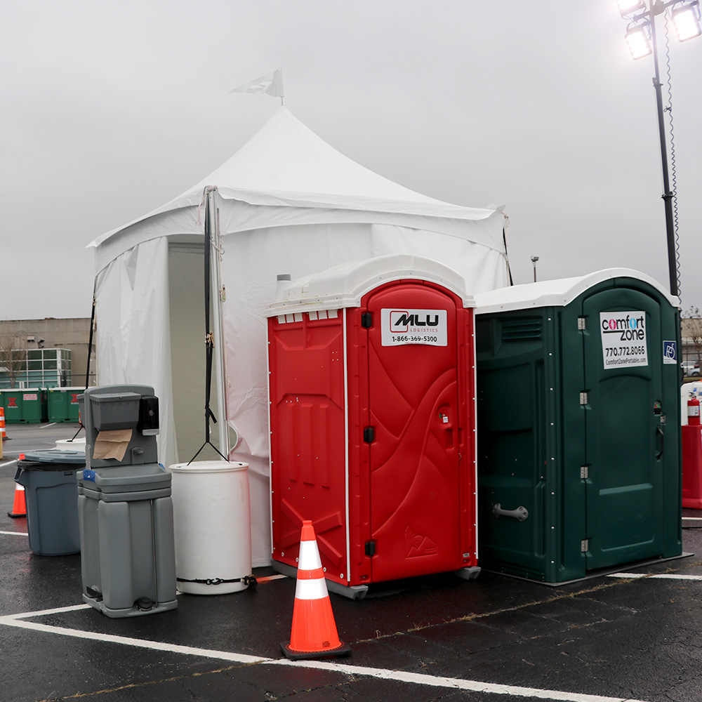 Outfitted Traffic Control Tent