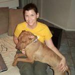 Bentley loves foster mom