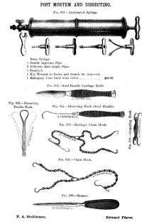 Post-Mortem instruments in Tiemann 1870's catalog