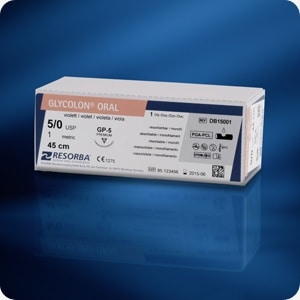 GLYCOLON® violet DSM13 USP 5/0 70 cm (24 stuks/doos)