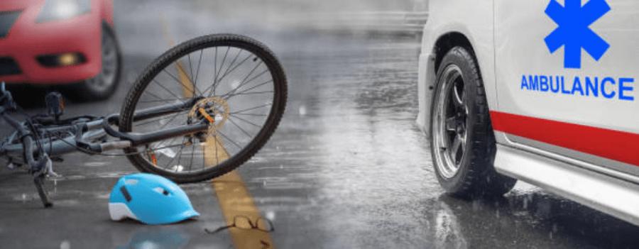 自転車と救急車