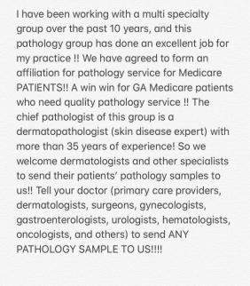 Multi-specialty Pathology Group Affiliation 2020
