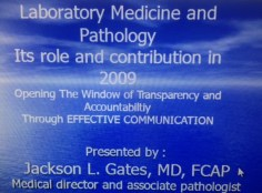 A Presentation on Quality Measures in the Laboratory