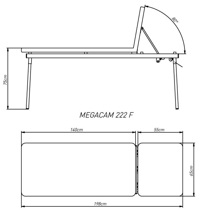 Camilla MEGACAM 222F de dos secciones con orificio
