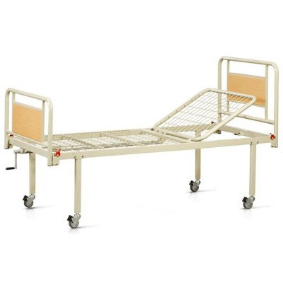 V12012 Κρεβάτι Νοσηλείας Χειροκίνητο με Μανιβέλα & Ρόδες