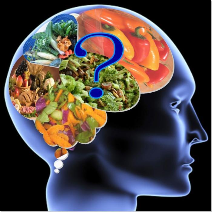 мозг, пища