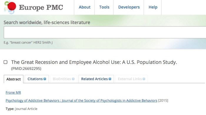 Frone M. R. The Great Recession and Employee Alcohol Use: A US Population Study //Psychology of addictive behaviors: journal of the Society of Psychologists in Addictive Behaviors. – 2015