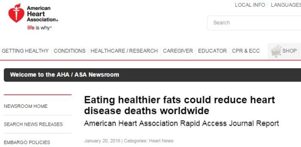 Eating healthier fats could reduce heart disease deaths worldwide ©