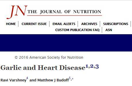 Garlic and Heart Disease