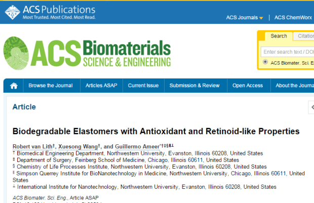 Biodegradable Elastomers with Antioxidant and Retinoid-like Properties ©