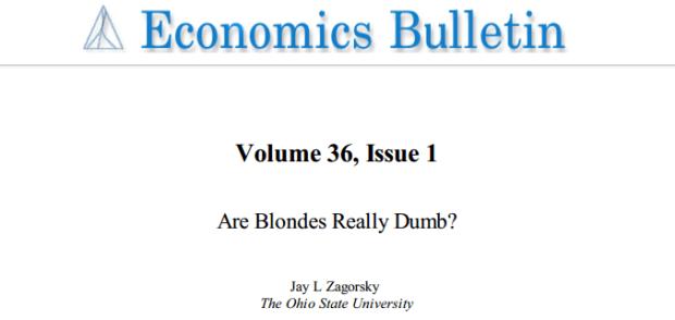 Economics Bulletin, волосы