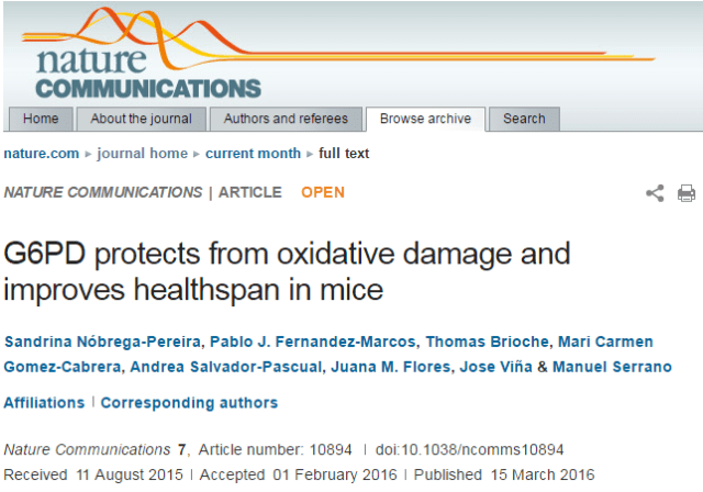 старение, антиоксиданты, Nature Communications