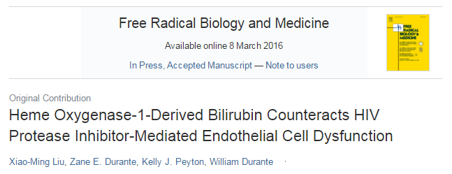 сердечно-сосудистые заболевания, ВИЧ, Free Radical Biology and Medicine