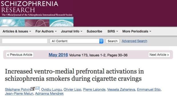 курение, шизофрения, Schizophrenia Research
