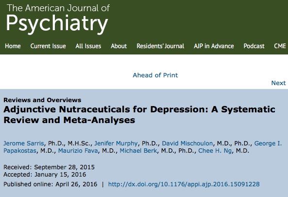 Омега-3, антидепрессанты, депрессия, American Journal of Psychiatry