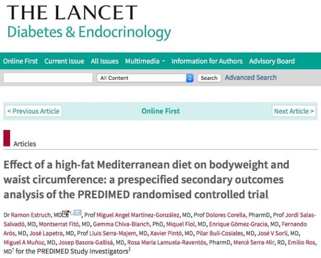 жирная пища, средиземноморская дита, The Lancet Diabetes & Endocrinology