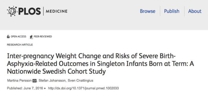 асфиксия, беременность, PLoS Medicine