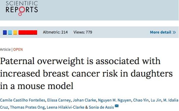рак молочной железы, ожирение, Scientific Reports