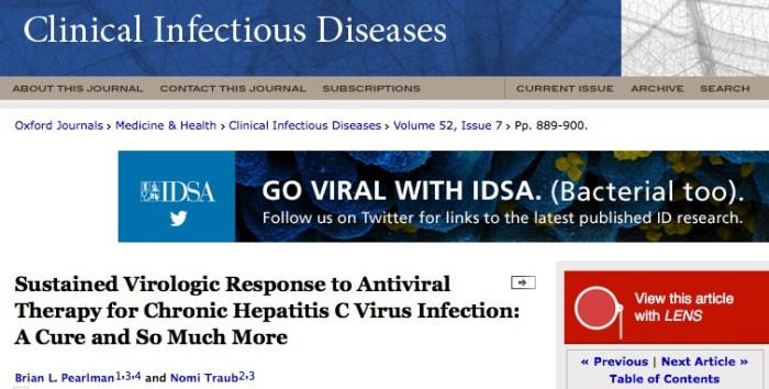 гепатит С, Journal of Hepatology