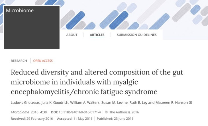 Microbiome, микрофлора кишечника, синдром хронической усталости